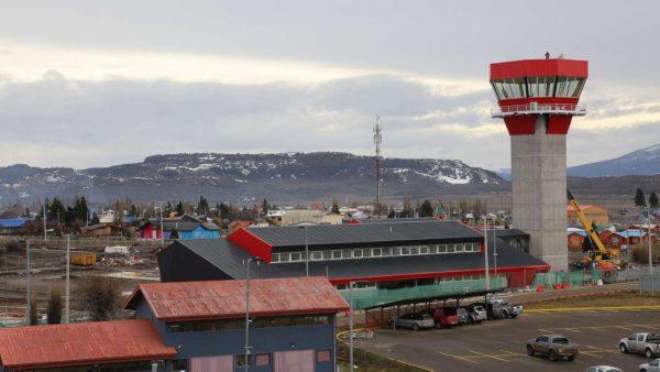 Aeropuerto Balmaceda en Región de Aysén.